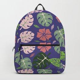 Tropical leaves Purple paradise #homedecor #apparel #tropical Backpack