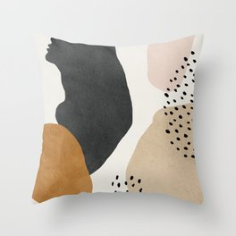 Woman silhouette art, Mid century modern art Throw Pillow