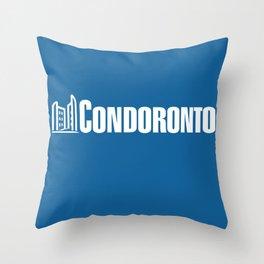 condoronto - white Throw Pillow