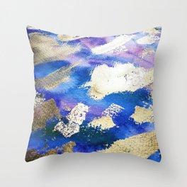 Gold Ocean Abstract Modern Design Throw Pillow