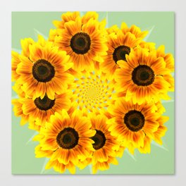 Spinning Sunflowers Canvas Print