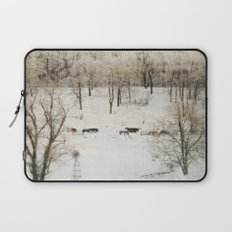 Horses in the Winter Laptop Sleeve