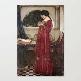 John William Waterhouse - The crystal ball Canvas Print