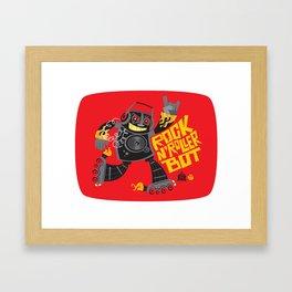 Rock n' Roller Bot Framed Art Print