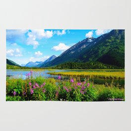 God's Country - Summer in Alaska Rug