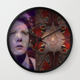 Crying over Butterflies Wall Clock