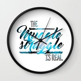 THE MUGGLE STRUGGLE IS REAL Wall Clock