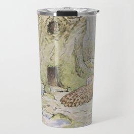 Owl and a Tree House Travel Mug