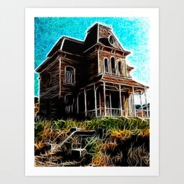 Magical Psycho Haunted House Art Print