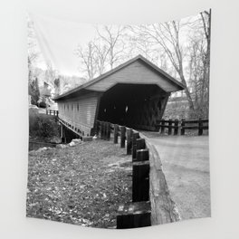 Newfield Covered Bridge 1853 Wall Tapestry