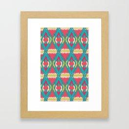Ikat pattern Framed Art Print