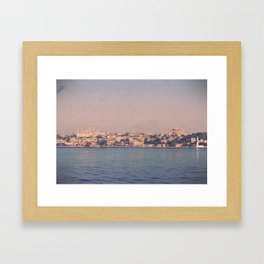 Istanbul From The Sea Framed Art Print
