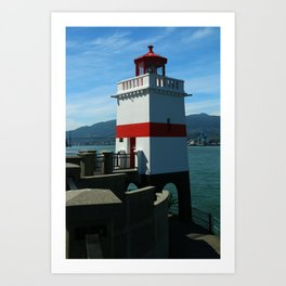 Brockton Point Light Art Print