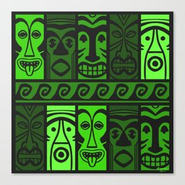 Jungle Green Tikis! Canvas Print