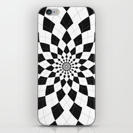 Black & White Argyle iPhone Skin