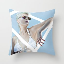 Reckless Sun Throw Pillow