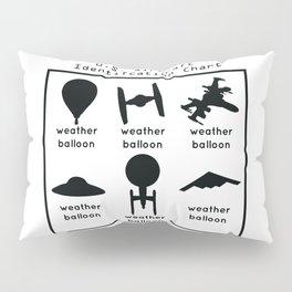 Funny U.S. Aircraft Identification Chart Pillow Sham