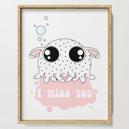 Little dumbo octopus Serving Tray