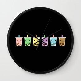 Bubble Tea Dark Wall Clock