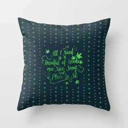 Weed-poetry Throw Pillow