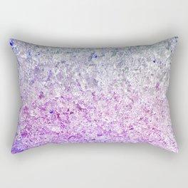 Frozen, close up photograph of snow and ice Rectangular Pillow