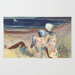 On the Beach by Victor Laredo Rug