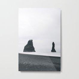 Basalt Sea Stacks Metal Print