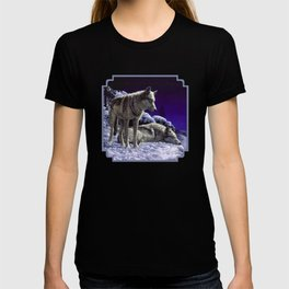 Night Watch Wolves in Snow T-shirt