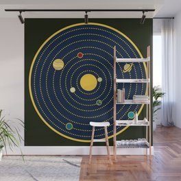 Atomic Solar System Wall Mural