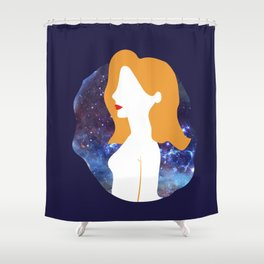 Galactic ginger beauty Shower Curtain