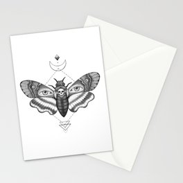 Dotwork Death's-Head Hawkmoth Stationery Cards