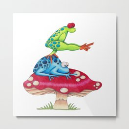 Leap Frog on a Toad Stool!  Metal Print