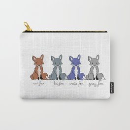 Cute Kawaii North American Fox Types Arctic Kit Red Gray Carry-All Pouch