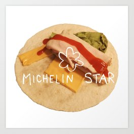 michelin star - burrito Art Print