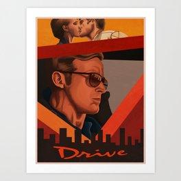 "Drive ""retro"" Art Print"