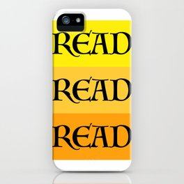 READ READ READ {YELLOW} iPhone Case