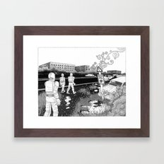Into the Zone Framed Art Print