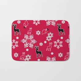 Christmas deer3 Bath Mat