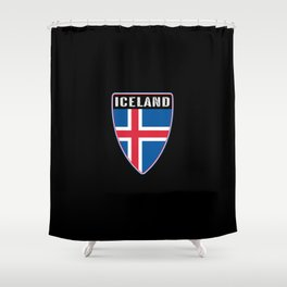 Iceland Shield Shower Curtain