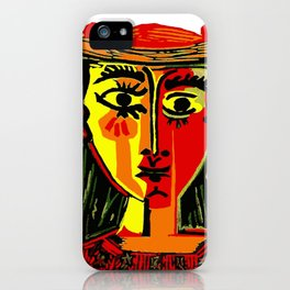 Pablo Picasso Woman In A Hat 1962 T Shirt, Artwork, tshirt, tee, jersey, poster, artwork iPhone Case