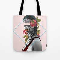 pain Tote Bags featuring Pain by Cristina Guerrero