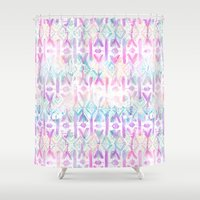 amelie Shower Curtains featuring Amelie {Pattern 6A} by Schatzi Brown