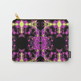Purple & Black Tropical Orchids Extravaganza Art Carry-All Pouch