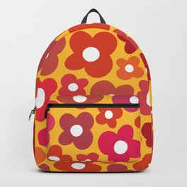 Yellow and Red Flower Power Backpack