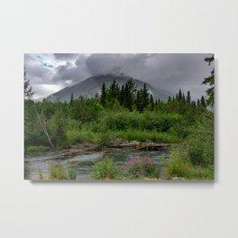 Alaskan Summer Rain Clouds, Kenai_Peninsula Metal Print