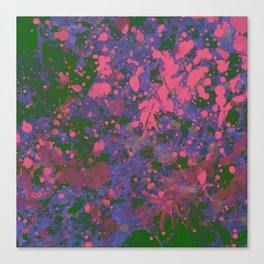 Emotional Pink - Abstract splatter painting Canvas Print