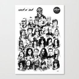 Rock n INK Canvas Print