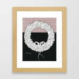 Wreath Framed Art Print