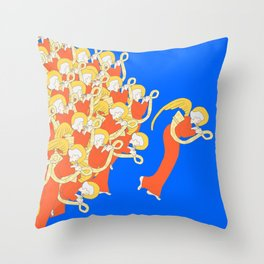 Angelic Chorale of Horns #Holidaze Throw Pillow