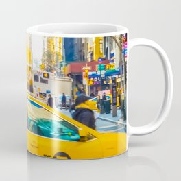 Colors of New York City Downtown Manhattan Coffee Mug